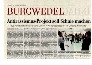 Antirassismus-Workshop an der IGS Burgwedel