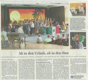 """Profilkurs """"Musik & Gesang"""" führt Musical """"Urlaubszeit"""" auf"""