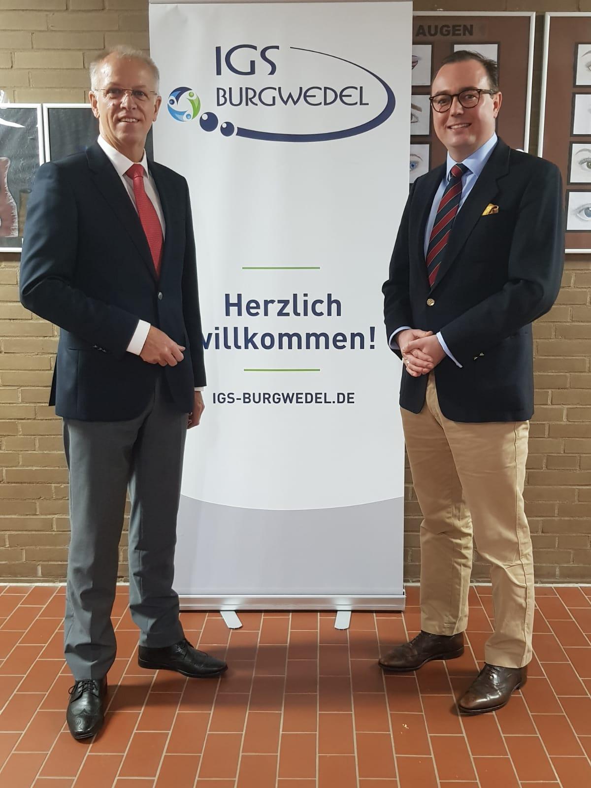 Rainer Fredermann MdL zu Besuch in der IGS Burgwedel am 1. Oktober 2019