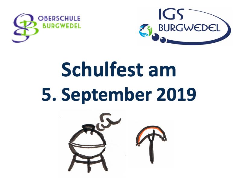 Einladung zum Schulfest am 05. September 2019