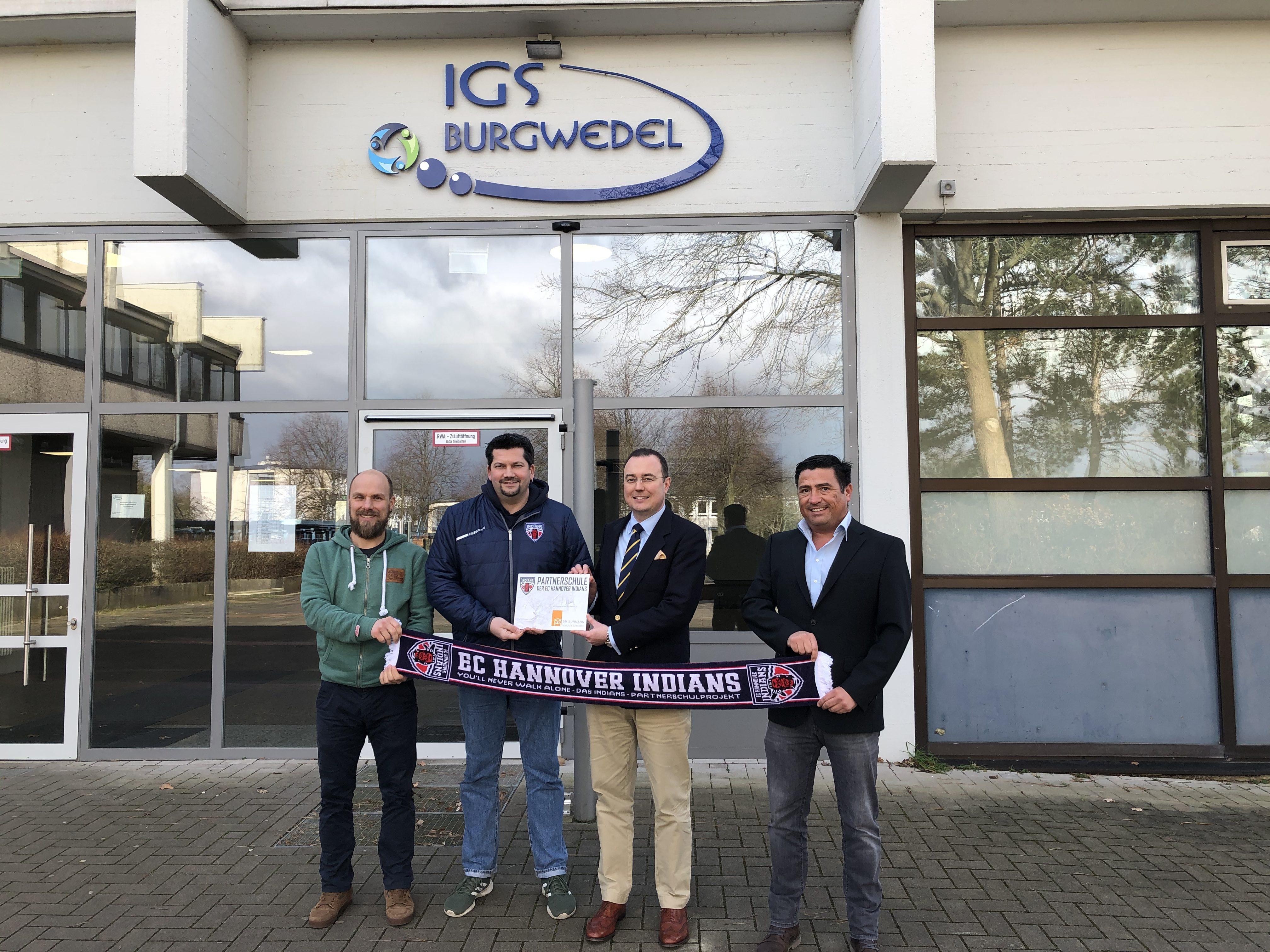 IGS Burgwedel ist jetzt Partnerschule der Hannover Indians