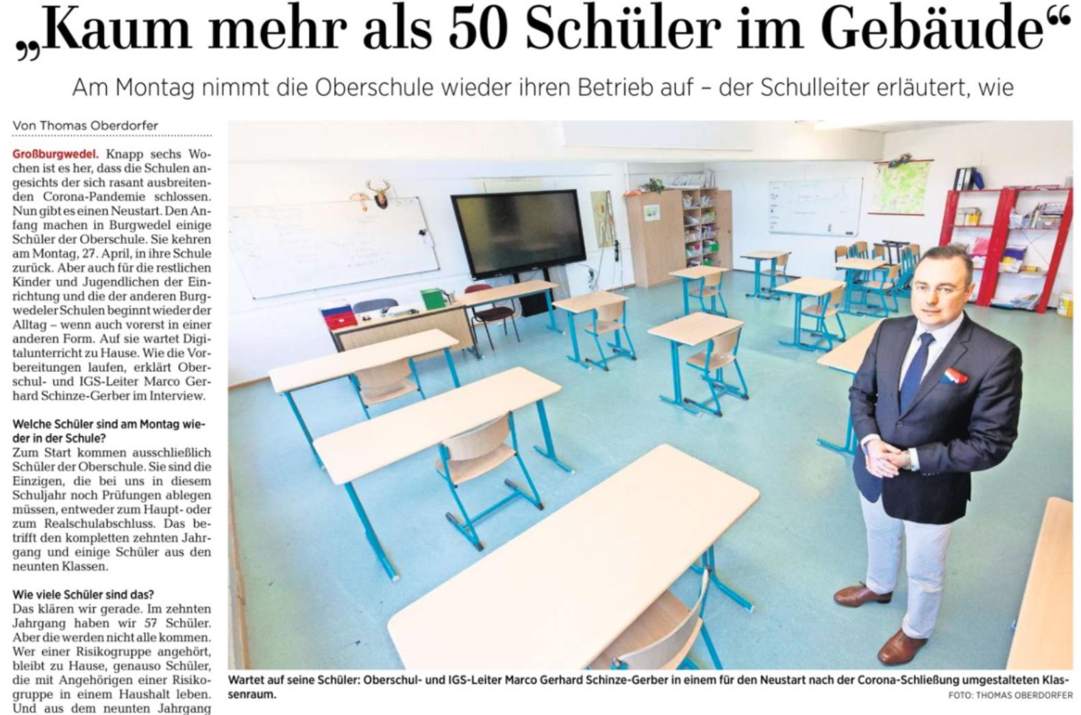 """Presse: """"Kaum mehr als 50 Schüler im Gebäude"""""""