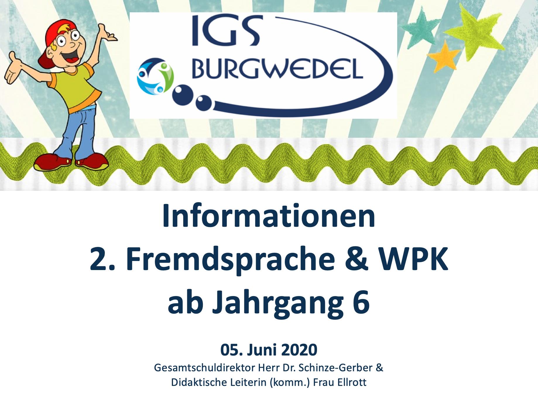 Informationen 2. Fremdsprache & WPK ab Jahrgang 6