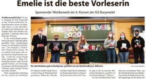 Presse: Emelie ist die beste Vorleserin